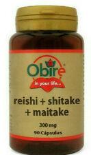 REISHI + SHITAKE + MAITAKE 300mg 90caps Obire  SUBE TUS DEFENSAS