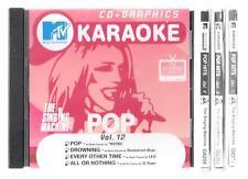 MTV Karaoke cd+g lot of 4 with 16 songs POP NSYNC J McIntyre Pink Matchbox 20