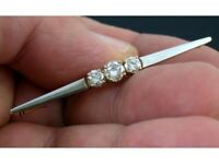 Brosche Pin Brooch 585 WG Gold Brillant Diamond 1,20 ct Champagner