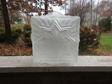 "CVV Cianne France Glass globe square opaque star shade 5"" French Vintage"