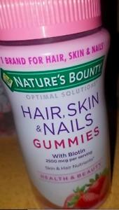 Nature's Bounty Hair Skin Nail Biotin 140 Softgels 2500 MCG per Serving Sealed