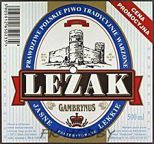 Poland Brewery Ciechanów Leżak Beer Label Bieretikett Cerveza ci67.1