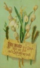 1878 Free Baptist Sabbath School Windham Center Crocus Flowers Bible Quote P81