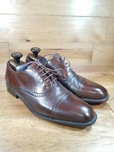 """MEZLAN """"Florence"""" Brown Leather Cap-Toe Oxford Shoes Size 10.5 M Made In Spain"""