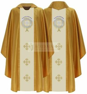 Gold Gothic Chasuble with matching stole 825-GK63 us