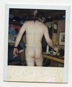 VINTAGE PHOTO POLAROID PUNK BOY MAN JOCKSTRAP BUTT SNAPSHOT GAY