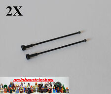 2X Lego® 2569 Antenne, Antenna Whip 1X1X8 Schwarz, Black, 256926