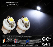 LED SMD T5 Cap B8.5D 509T White Dashboard Cluster Speedo Instrument Light Bulbs