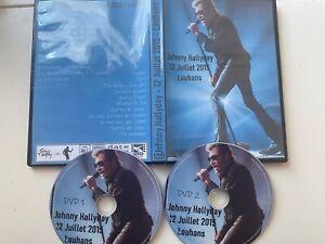 """DOUBLE DVD Johnny Hallyday """" Louhans 2015 """" avec """"victime de l'amour"""" (rare)"""