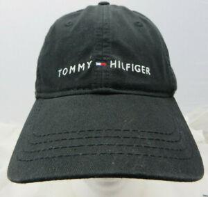 Tommy Hilfiger baseball cap hat adjustable buckle black