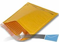100 6.5x10 Kraft Bubble Mailer CD Envelope Shipping Sealed Air Paper Mailing