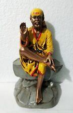 """Shirdi Sai Baba India Religious Saint 9"""" Tall Statue Resin Idol ~ Energized"""