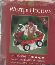 Christmas Red Wagon Bead Kit w/ Treasure Mill Hill