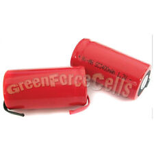 15 Pcs SubC Sub C 3400mAh NiMH Rechargeable Battery Tab