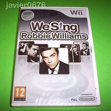 WE SING ROBBIE WILLIAMS NUEVO PRECINTADO PAL ESPAÑA NINTENDO Wii NWii