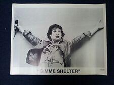 rolling stones gimme shelter mick jagger vintage poster