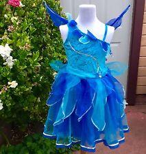 EURO DISNEY PERIWINKLE SILVERMIST TINKERBELL BLUE FAIRY COSTUME DRESS GIRL M 7 8