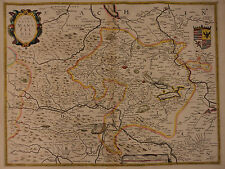 1630 Color MAP of Mansfeld Germany Comitatus Mansfeldia Heinrich Hondius Europe