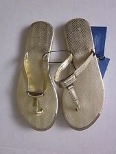 New $28.00 SIMPLY VERA - VERA WANG Gold Sandals  -  Size: L 9-10