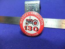 vtg tin badge massey ferguson tractor 130 1950s 60s farm machinery advert promo