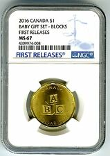 2016 CANADA $1 BABY BLOCKS NGC MS67 FIRST RELEASES LOON LOONIE RARE TOP POP 1