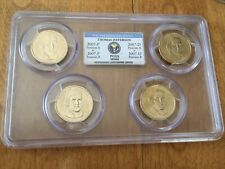 2007 P&D THOMAS JEFFERSON PCGS MS66 POSITION A&B 4-COIN DOLLAR SET