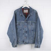 Vintage LEVI'S Blanket Lined Blue Trucker Denim Jacket Size Mens Large /R55024
