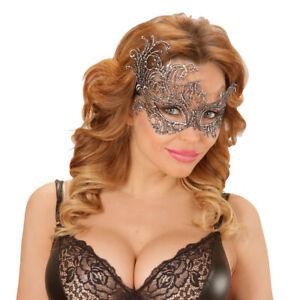 Antique Masque Yeux Gothique Vénitien Baroque Argent de Bal Carnaval