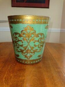 Gold Wastebasket In Antique Toleware For Sale Ebay