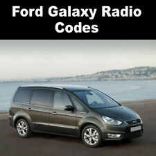 Ford Galaxy Radio Code Stereo Codes Pin Car Unlock Fast Service 6000cd