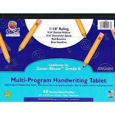 Pacon Grade K Multi-program Handwriting Tablet - 40 Sheets - Both Side Ruling