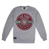 Zoo York - Official Street Wear Brand Men's Ruckus Badge Sweatshirt Heather Grey