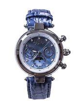 Akribos XXIV Womens AK441BL Diamond Accented Multifunction 44.5mm Watch 124401