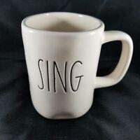"Rae Dunn Artisan Collection By Magenta 'Sing' 4.5"" Tall Ceramic Coffee Tea Mug"