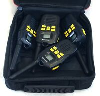 Set of 4 OLYMPIA R100 AA FRS GMRS Rugged 2-WAY Radio Walkie Talkie + Case