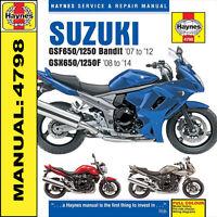 Suzuki GSF650 GSF1250 Bandit 2007 - 2014 Haynes Manual 4798 NEW