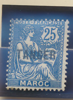 French Morocco Stamp Scott #81, Mint Hinged