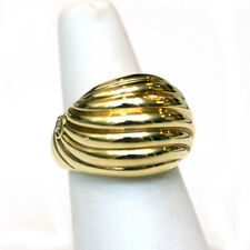 DAVID YURMAN New 18K Yellow Gold Sculpted Cable Dome Ring 7.25
