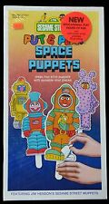 MIB - Sesame Street Put & Play Space Puppets Paper Dolls w Muppets 1981
