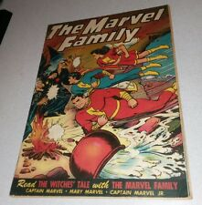 MARVEL FAMILY #4 golden age fawcett comics captain jr horror cover shazam movie