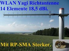 Booster WLAN Antenne Richtantenne Yagi 2m Kabel RP-SMA Stecker international V.