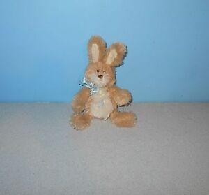 "Mini Gund 8"" Chenille Soft Bunny Rabbit Stuffed Turnip #36231 Bean Plush Animal"