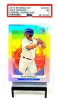 2014 Bowman Chrome REFRACTOR Red Sox ALEX VERDUGO Rookie Card PSA 7 NEAR MINT