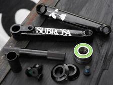 SUBROSA ROSE CRANKS BMX BIKE 165mm + MID BB KIT SHADOW CULT RANT HARO BLACK NEW