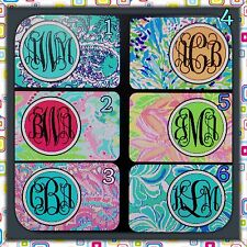 Lilly Pulitzer Inspired Monogrammed License Plate Car Tag Initials Custom