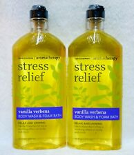 2 Bath & Body Works Aromatherapy STRESS RELIEF VANILLA VERBENA Foam Wash Shower