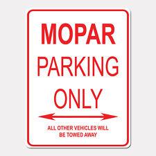 """MOPAR Parking Only Street Sign Heavy Duty Aluminum Sign 9"""" x 12"""""""