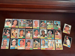1961 Topps Baseball 70 card lot ~ EX-EX+ condition ~ All cards pictured
