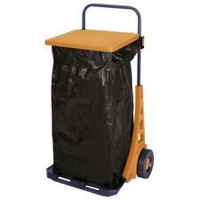 Carro Cubo Bolsa de Basura para Jardin Hierba Hojas y Residuos Carro Porta Sacos