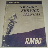 1991 1992 1993 1994 1995 1996 SUZUKI RM80 RM 80 Owner's Service Repair Manual